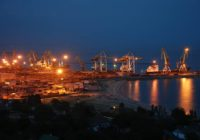 Мариуполь, вечерний порт.