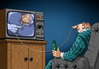Зомбированные телевизором.