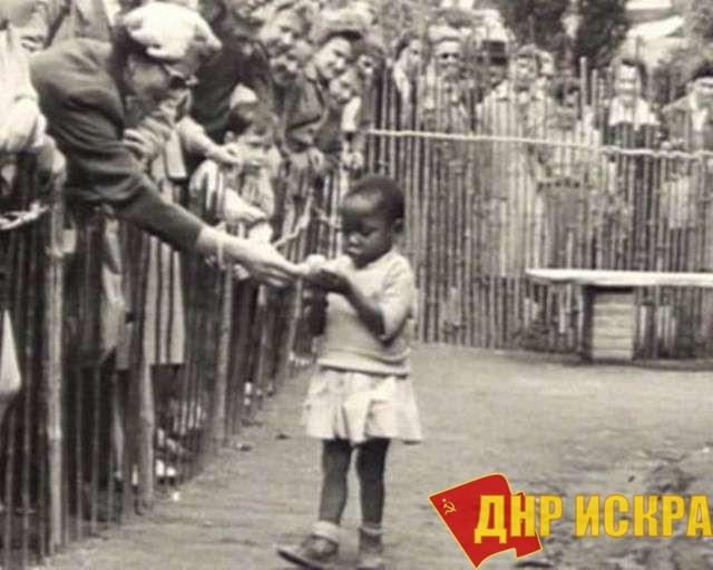 Девочка - экспонат в зоопарке.