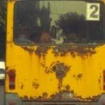 Грязный автобус.