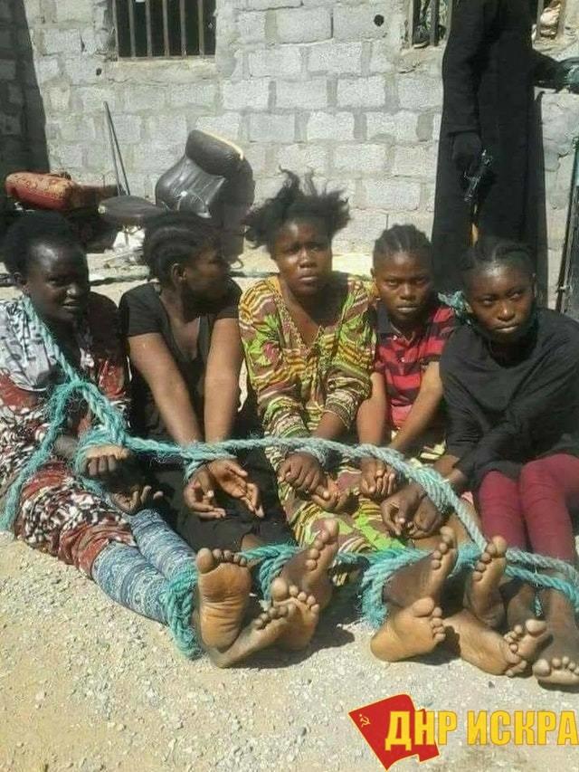 Фото с рынка рабов. Ливия. 2018 год. Демократия прошлась!