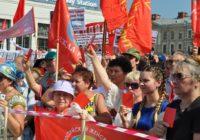 Митинг против пенсионной реформы в Ленинграде