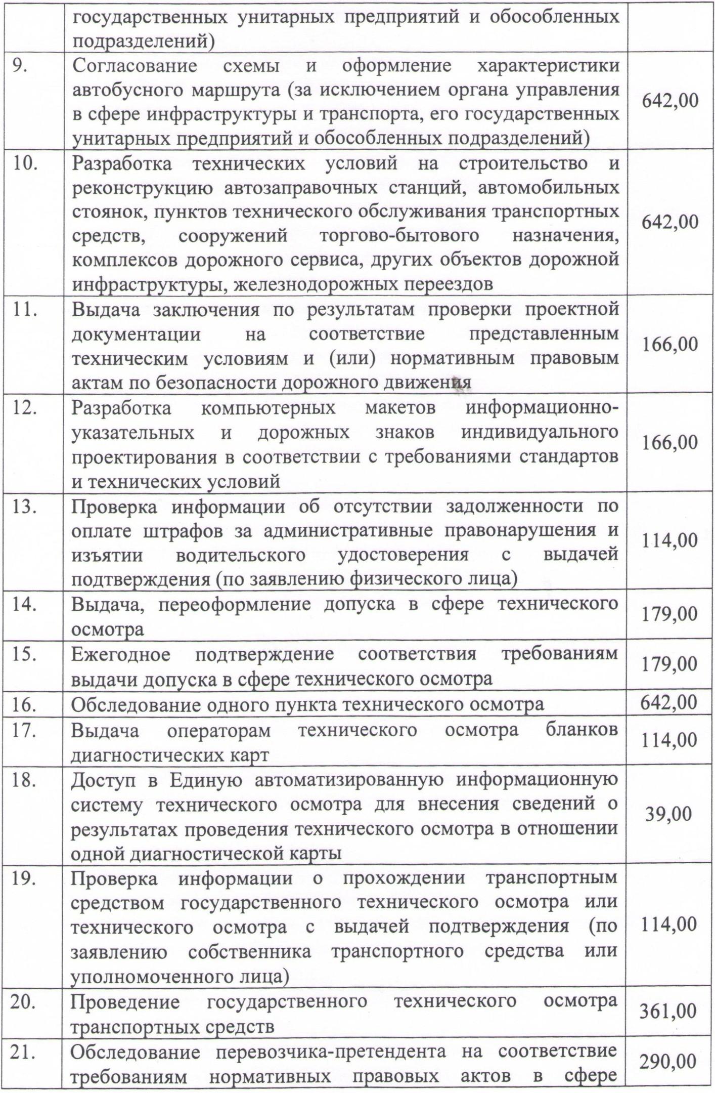 Перечень платных услуг. стр.2