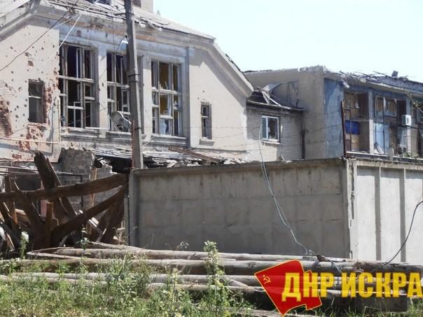 Гольмовский район. Разрушения после обстрела.