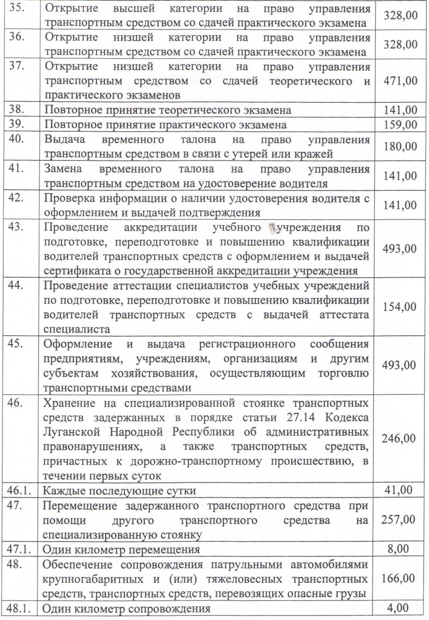 Перечень платных услуг. стр.4