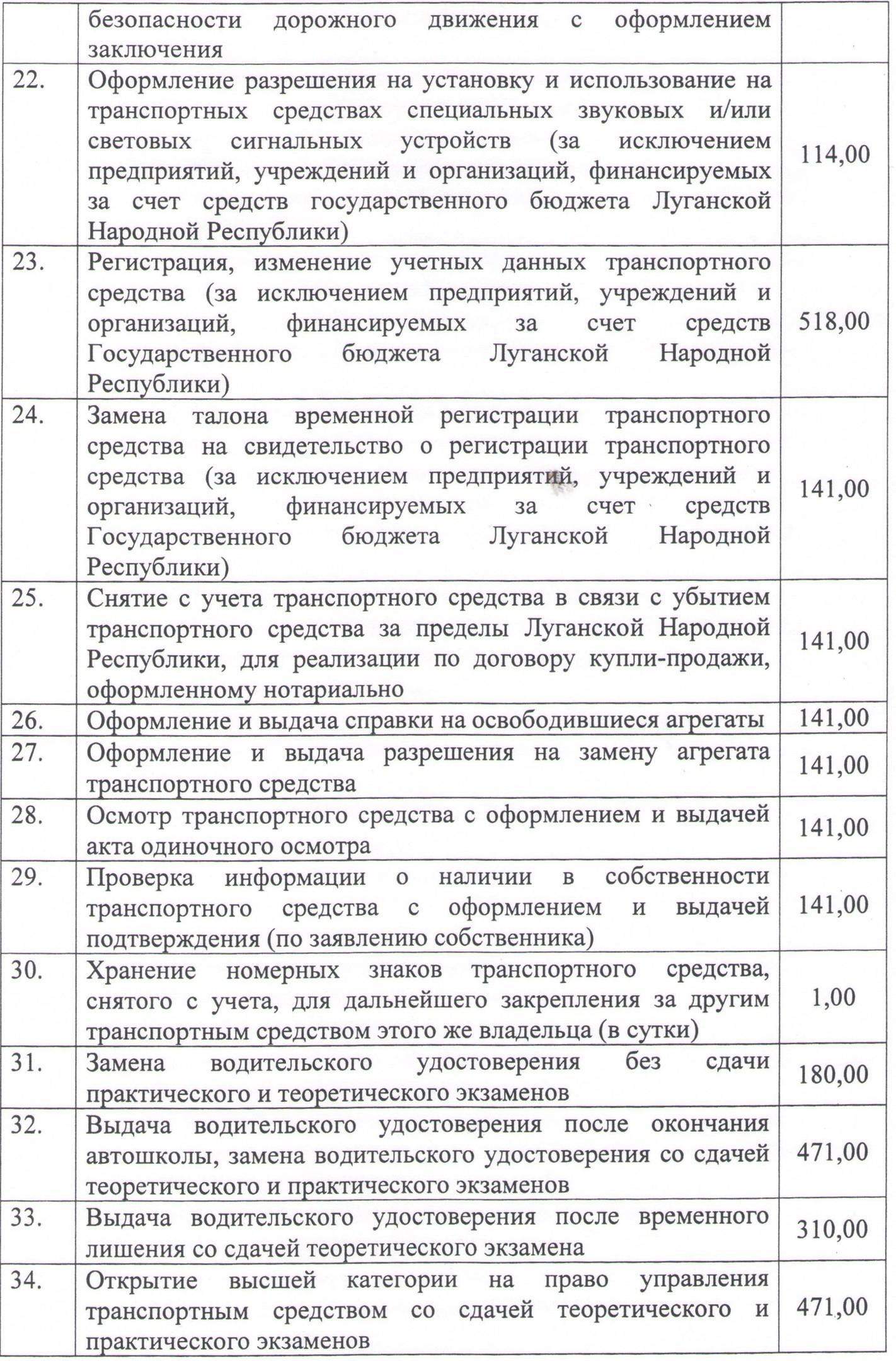 Перечень платных услуг. стр.3