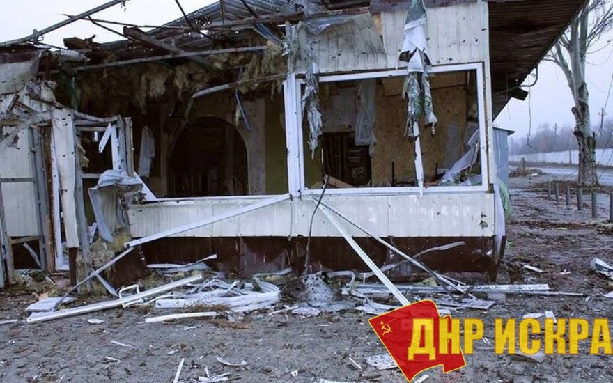 Поселок Октябрьский после обстрела ВСУ.