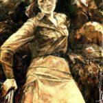 """""""Героиня Сталинградской битвы Наташа Качуевская"""",1984 Картина Ирины Балдиной, одноклассницы Наташи."""