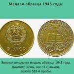 27 августа 1959 года в СССР принято постановление о награждении выпускников школ медалями «За отличные успехи в учении, труде и за примерное поведение»
