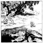 Немцы обнаруживают в Катыни захоронения 4000 польских офицеров и на удочку с наживкой «фальшивые русские зверства» Геббельс пытается поймать западные державы, приговаривая «Тихо! Клюет!»