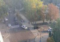 Взрыв прогремел в ресторане в центре Донецка, район происшествия оцеплен