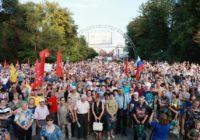2 сентября в Саратове, в рамках Всероссийской акции протеста, прошёл массовый митинг против повышения пенсионного возраста