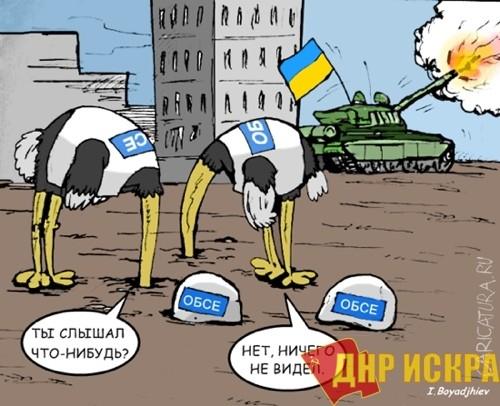 Хуг объяснил, что наблюдатели ОБСЕ вовсе не слепые, как полагает население Донбасса. И работа у них тяжелая