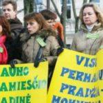 В Литве проходит забастовка учителей