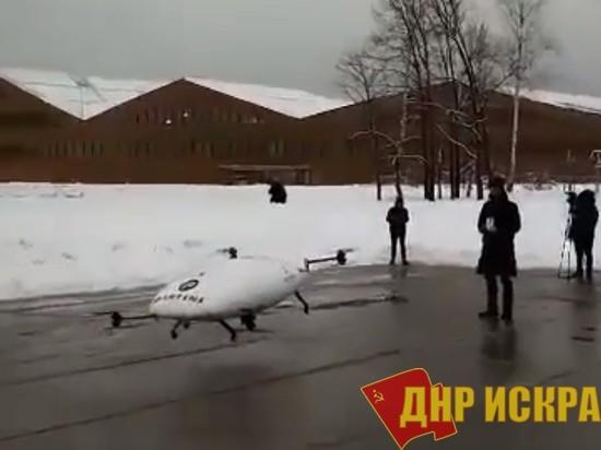 Новый прототип «Сколково» рухнул в сугроб на первых испытаниях