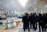 Парижская полиция применила слезоточивый газ против протестующих