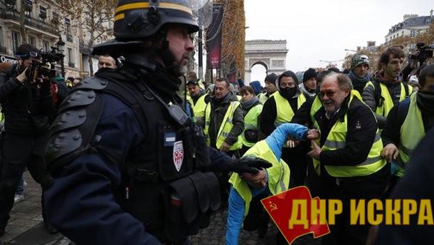 Во Франции хотят выдать премии копам, работающим против народа на протестах