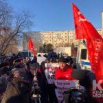 Защитников единства России задерживали у посольства Японии в Москве