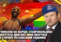 Гомосеки на марше: ставропольские депутаты двигают окно Овертона в сторону легализации содомии