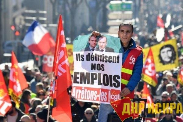 Французские профсоюзы активизировались. Протест во Франции усиливается