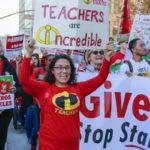 Бастуют учителя в Окленде