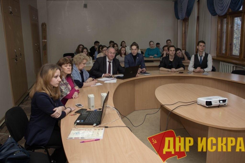 Новости КПДНР. Борис Литвинов принял участие в круглом столе, посвященном пятилетию массовых протестов на Донбассе