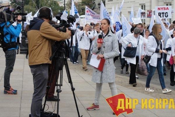 Капитализм разрушает страну. В Польше проходит манифестация врачей