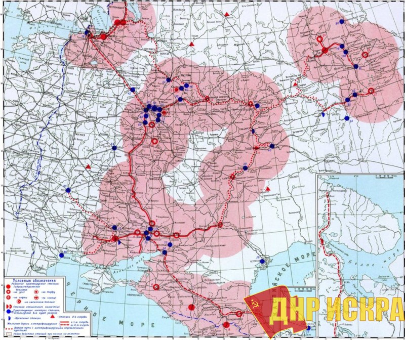 Карта объектов, подлежащих созданию по плану ГОЭЛРО