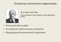 В.И.Ленин. «Три источника и три составных части марксизма»