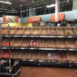 Пустые полки супермаркета
