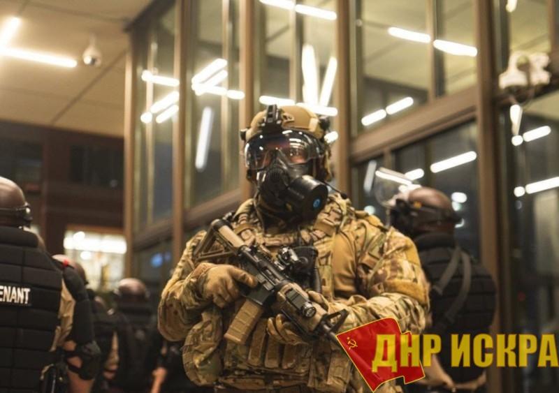 Боец национальной гвардии в Миннеаполисе