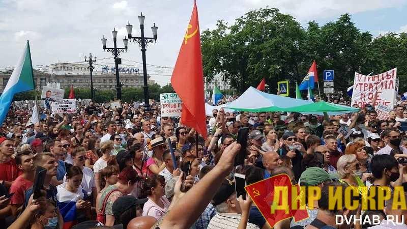 Опрос: 45% россиян поддерживают протесты в Хабаровске