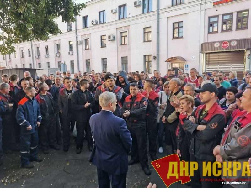 Стачка белорусских рабочих была замечена на высшем уровне