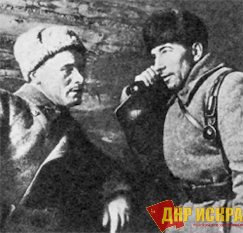 Командир бригады Михаил Ефимович Катуков и комиссар Михаил Фёдорович Бойко