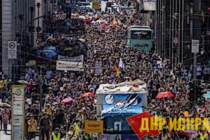 «Антикоронавирусные» протесты в Германии