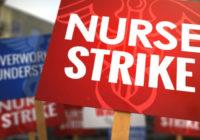 Забастовка более 700 медсестёр медицинского центра св. Иосифа в городе Джолиет штата Иллинойс