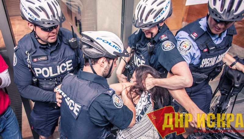 Канадская полиция осуществляет задержание