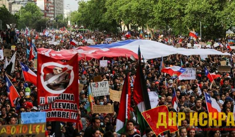 Акция протеста в Чили