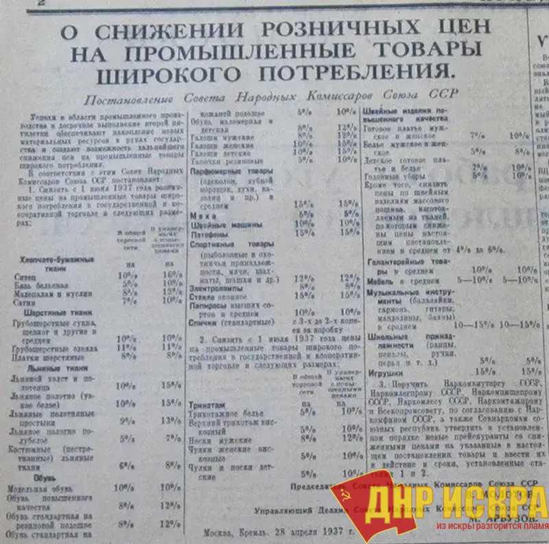 Номер газеты «Комсомольская правда» от 28 апреля 1937 г.