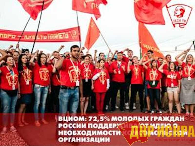 ВЦИОМ: 72,5% молодых граждан России поддерживает идею о необходимости комсомольской организации